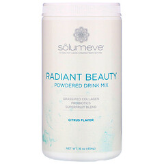 Solumeve, 膠原蛋白,含益生菌和超級水果,混合飲品粉,柑橘味,16 盎司(454 克)
