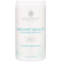 Radiant Beauty, Grass-Fed Collagen, Probiotics & Superfruits Powdered Drink Mix, Strawberry Lemonade, 16 oz (454 g) - фото