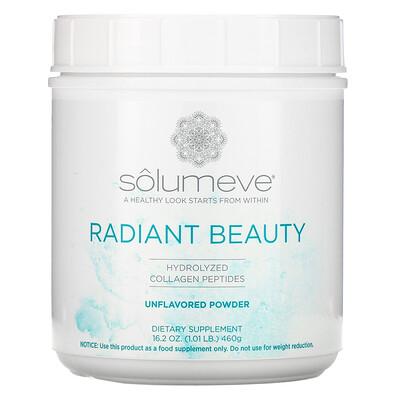 Купить Solumeve Radiant Beauty, Hydrolyzed Collagen Peptides Powder, Unflavored, 1.01 lb (460 g)