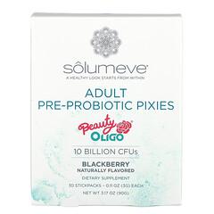 Solumeve, بكسيات البريبيوتيك والبروبيوتيك للكبار، نكهة التوت الأسود، 10 مليار وحدة تشكيل مستعمرة، 30 كيسًا أنبوبيًا، 0.11 أونصة (3 جم) لكل كيس