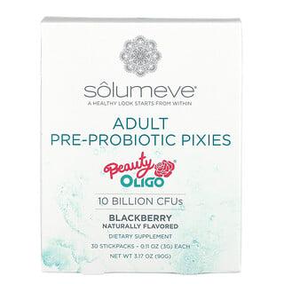 Solumeve, 成年人益生元-益生菌合劑,黑莓味,100 億 CFU,30 小袋,每袋 0.11 盎司(3 克)