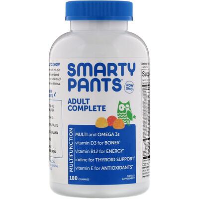 Купить SmartyPants Комплекс для взрослых, 180жевательных таблеток