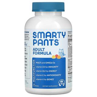 SmartyPants, Adult Formula, Lemon, Strawberry Banana, and Orange, 180 Gummies
