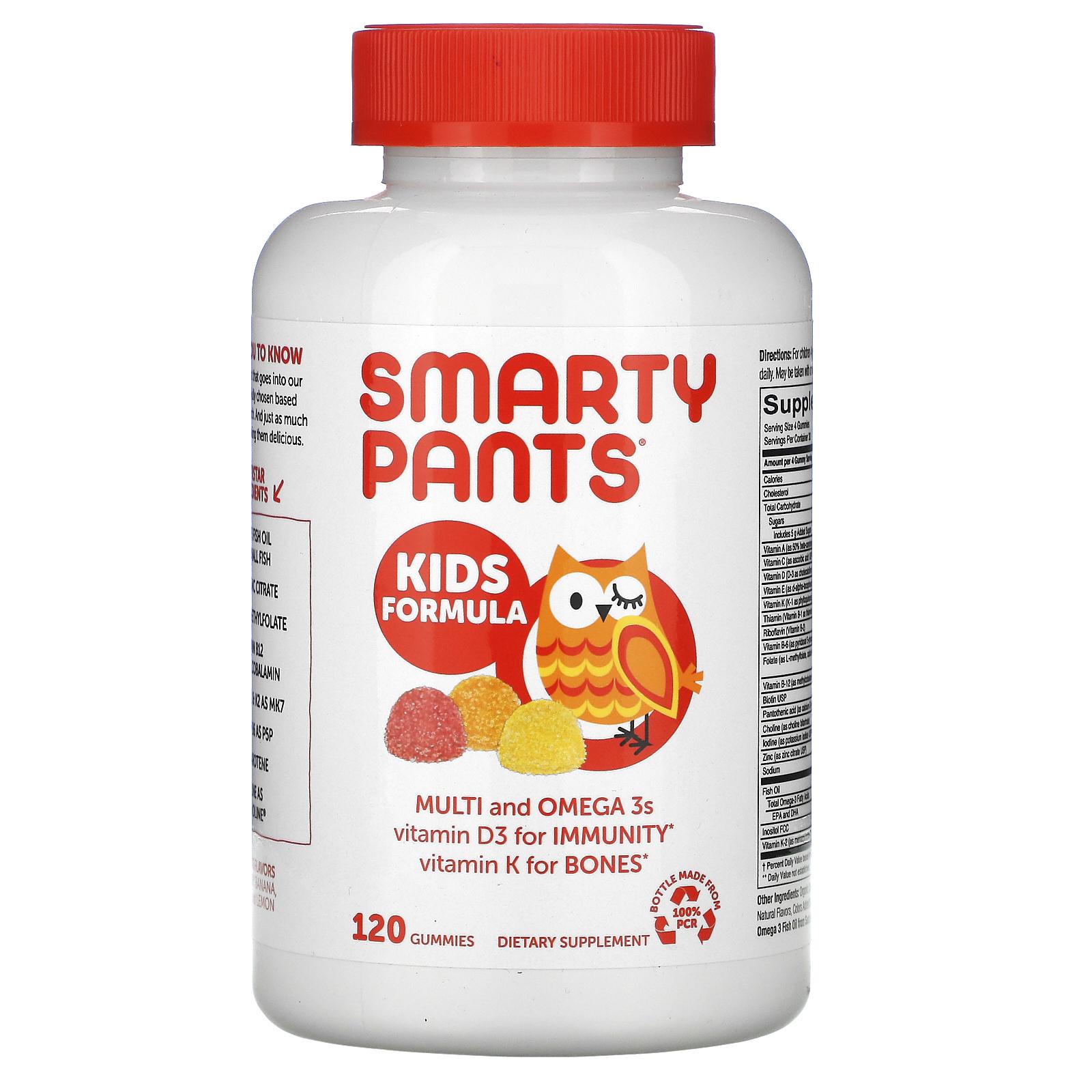 SmartyPants, Kids Formula, Multi and Omega 3s, Strawberry Banana, Orange  and Lemon, 120 Gummies - iHerb