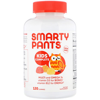 SmartyPants, Kids Complete, Strawberry Banana, Orange and Lemon Flavors, 120 Gummies
