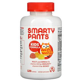 SmartyPants, Kids Formula, Multi and Omega 3s, Strawberry Banana, Orange and Lemon, 120 Gummies
