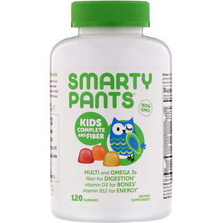 SmartyPants, Kids Complete and Fiber, 120 Gummies