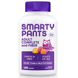 SmartyPants, Adult Complete and Fiber, 180 жевательных конфет
