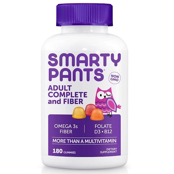 SmartyPants, アダルトコンプリート&ファイバー、グミ180個