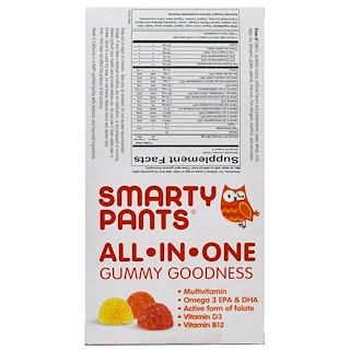 SmartyPants, Kids Complete, 15 Travel Packs, 4 Gummies Per Pack