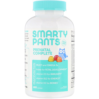 SmartyPants, Prenatal Complete, Lemon, Orange and Strawberry Banana, 180 Gummies