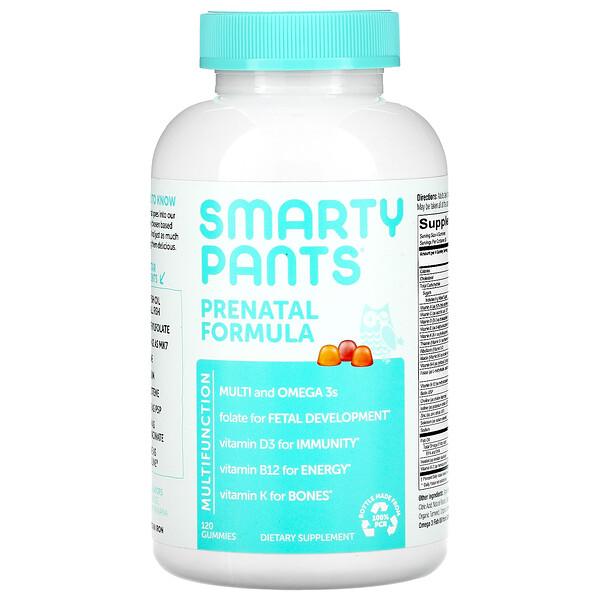 Prenatal Formula, Lemon, Orange, and Strawberry Banana, 120 Gummies
