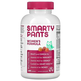 SmartyPants, Women's Formula, Lemon Creme, Blueberry, and Orange, 180 Gummies