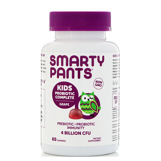 SmartyPants, Kids Probiotic Complete, Grape, 60 Gummies