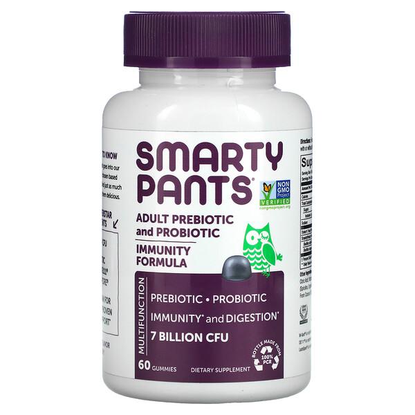 Adult Prebiotic & Probiotic, Blueberry, 7 Billion CFU, 60 Gummies