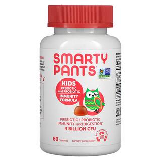 SmartyPants, Kids Prebiotic and Probiotic, Immunity Formula, Strawberry Creme, 2 Billion CFU, 60 Gummies