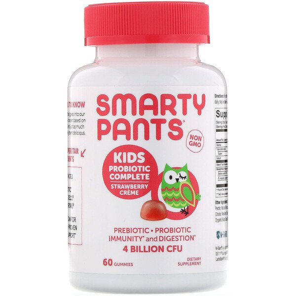 SmartyPants, Kids Probiotic Complete, Strawberry Creme, 4 Billion CFU, 60 Gummies