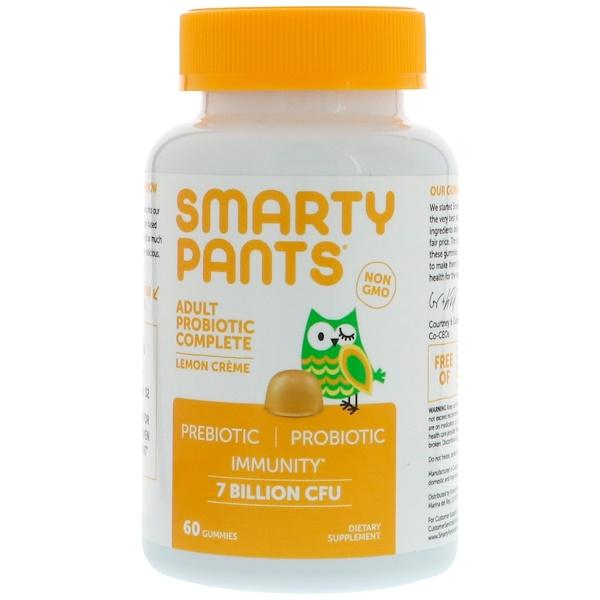 SmartyPants, Adult Probiotic Complete, Lemon Creme, 7 Billion CFU, 60 Gummies (Discontinued Item)