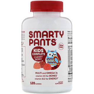 SmartyPants, Kids Complete Multivitamin, Cherry Berry, 120 Gummies