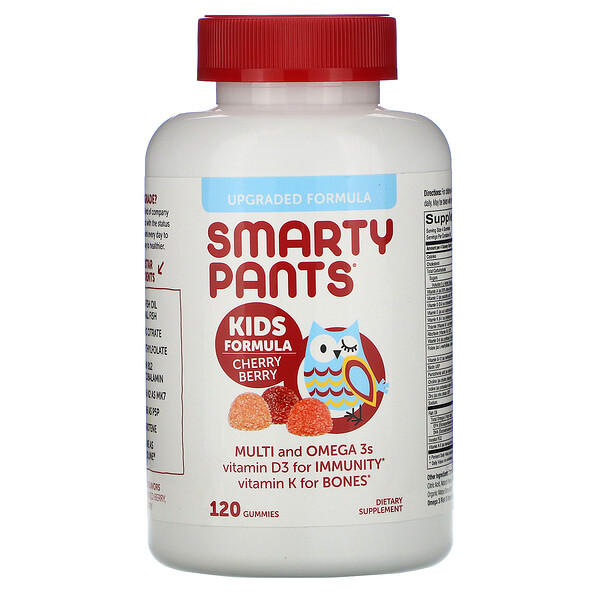 SmartyPants, Kids Formula, Multi and Omega 3s, Cherry Berry, 120 Gummies