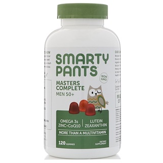 SmartyPants, Masters Complete, Men 50+, More Than A Multivitamin, Blueberry, Orange, and Strawberry Banana, 120 Gummies