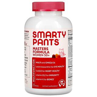 SmartyPants, マスターズコンプリート、50歳からの女性用、グミ120粒