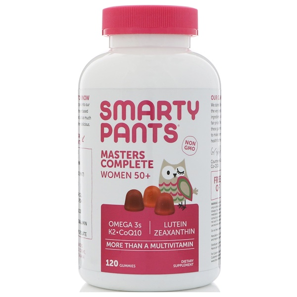 SmartyPants, Masters Complete, Women 50+, More Than A Multivitamin, 120 Gummies