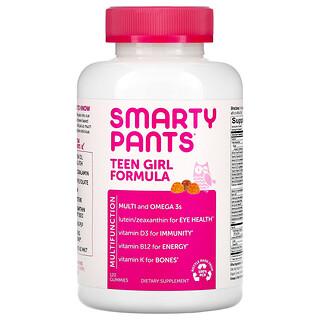 SmartyPants, Teen Girl Formula, Lemon Lime, Mixed Berry, and Orange, 120 Gummies