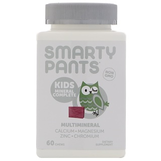 SmartyPants, Kids Mineral Complete, Multimineral, Mixed Berry, 60 Chews