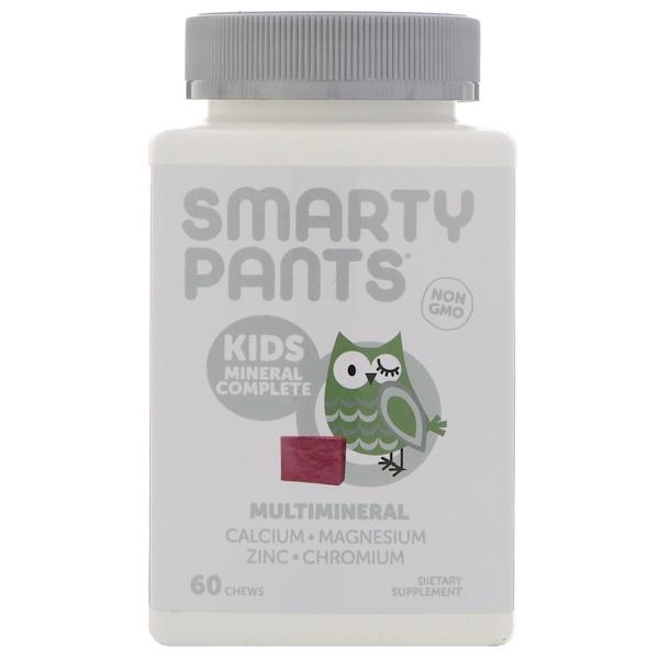 SmartyPants, 兒童,綜合礦物質軟糖,混合漿果味,60 粒