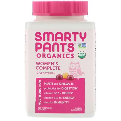 Купить SmartyPants Органический комплекс для женщин, 120вегетарианских жевательных таблеток