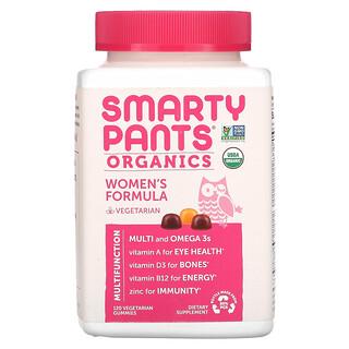 SmartyPants, Organics, Women's Complete, Raspberries, Lemon Lime and Grape, 120 Vegetarian Gummies