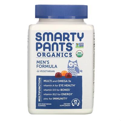 Купить SmartyPants Органическое средство для мужчин, 120вегетарианских жевательных таблеток