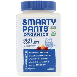 SmartyPants, オーガニックス、メンズ・コンプリート、ベジタリアングミ120粒