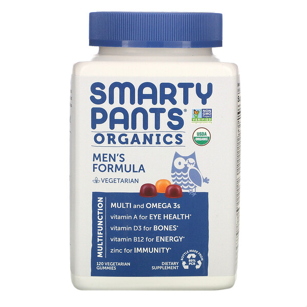 SmartyPants, Organics, Men's Formula, 120 Vegetarian Gummies