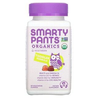 SmartyPants, Organics, Toddler Formula, Cherry and Mixed Berry, 60 Vegetarian Gummies