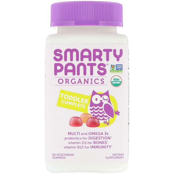 SmartyPants, Organics, Toddler Complete, 60 Vegetarian Gummies