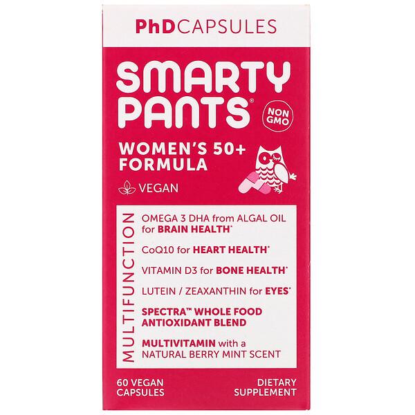 SmartyPants, Women's 50+ Formula, 60 Vegan Capsules