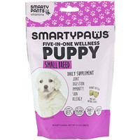 SmartyPants, SmartyPaws, Five-In-One Wellness, Puppy, Small Breed, 60 Soft Chews
