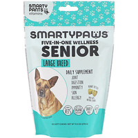 SmartyPants, SmartyPaws, Five-In-One Wellness, Senior, Large Breed, 60 Soft Chews