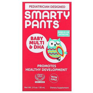 SmartyPants, Suplemento multivitamínico con DHA para bebés, De 6a 24meses, 30ml (1oz.líq.)