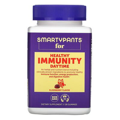 SmartyPants Healthy Immunity, Daytime, Elderberry Flavor, 28 Gummies