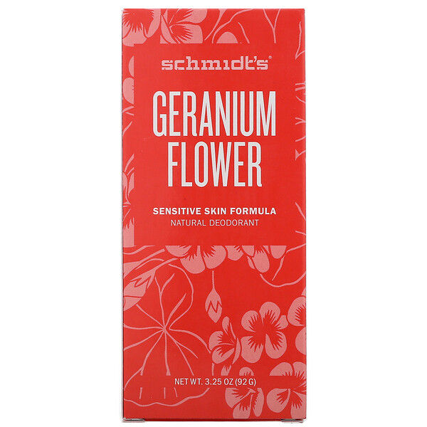 Natural Deodorant, Sensitive Skin Formula, Geranium Flower, 3.25 oz (92 g)
