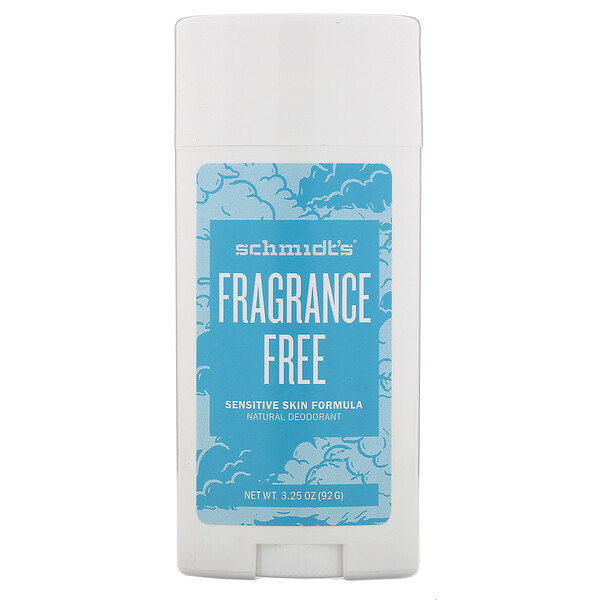 Natural Deodorant, Sensitive Skin Formula, Fragrance Free, 3.25 oz (92 g)