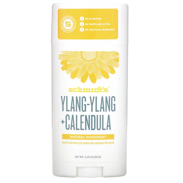Natural Deodorant, Ylang-Ylang + Calendula, 3.25 oz (92 g)