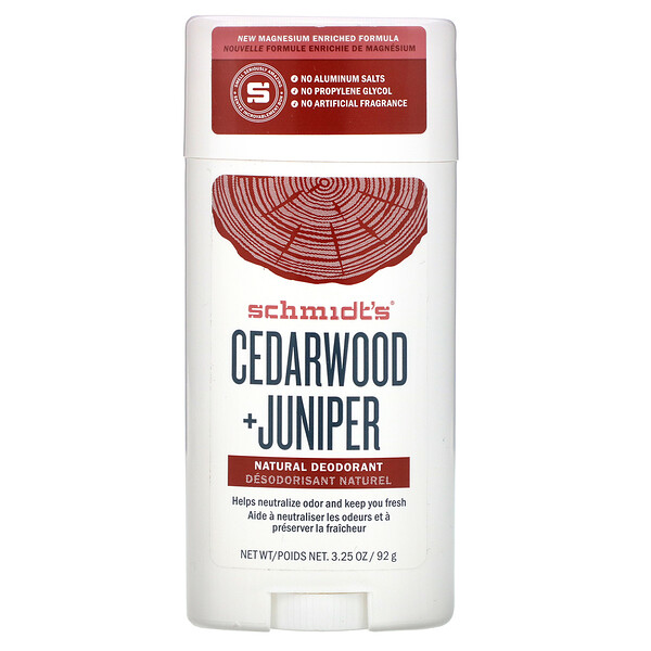 Natural Deodorant, Cedarwood + Juniper, 3.25 oz (92 g)