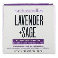 Schmidt's Naturals, Natural Deodorant Jar, Lavender + Sage, 2 oz (56.7 g)