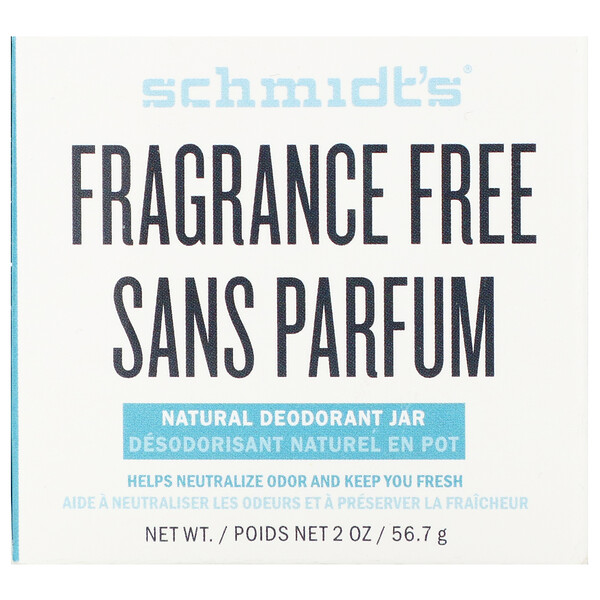 Natural Deodorant Jar, Fragrance-Free, 2 oz (56.7 g)