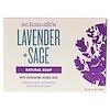 Schmidt's Naturals, Natural Soap, Lavender + Sage, 5 oz (142 g)