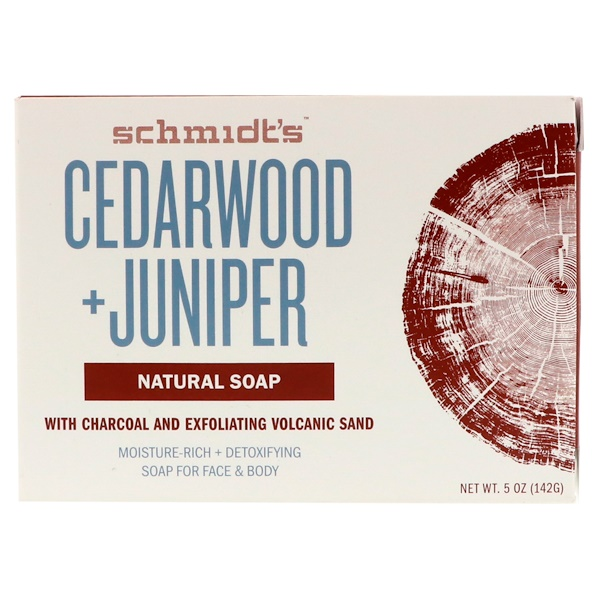 Schmidt's Naturals, Natural Soap, Cedarwood + Juniper, 5 oz (142 g) (Discontinued Item)